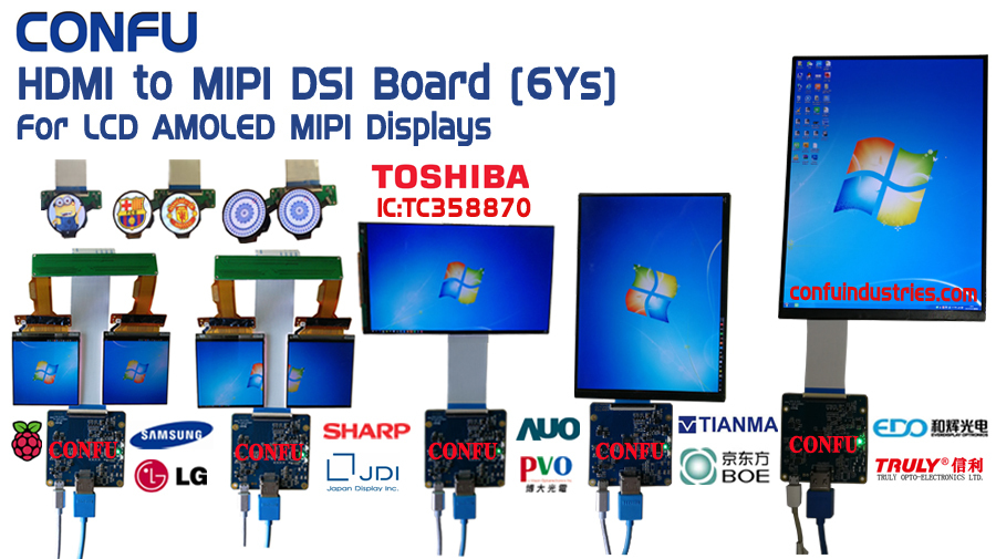HDMI to MIPI EDP LVDS RGB Interface Driver RK3288 Dual Multi for LCD
